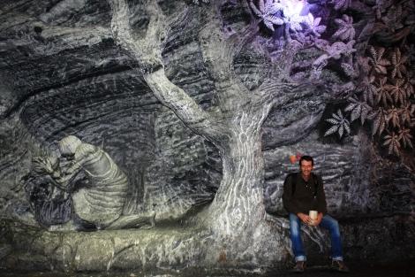 Escultura en sal natural
