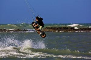 Kite surfers en Natal