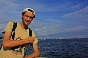 Victor en el río Amazonas