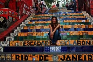 Ruth en las escaleras de Selaron