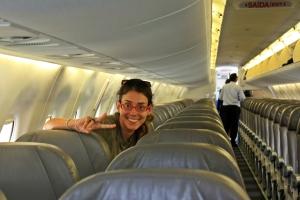 Solos en el avión
