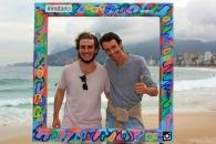 Gregor y Victor en Ipanema