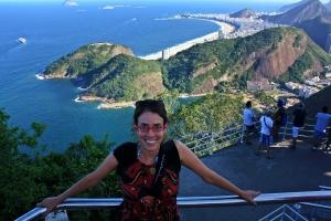 Ruthy Copacabana desde el Pan de Azucar