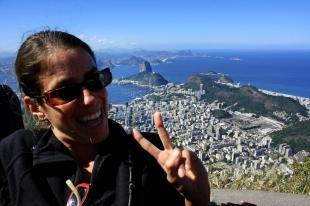 Ruth y la vista panorámica de Rio de Janeiro