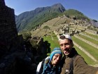 Emocionados en Machu Picchu