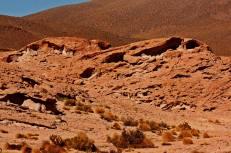 Paisaje lunar en el desierto