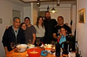 Cena entre amigos en casa de Claudio