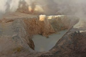 Crater humeante