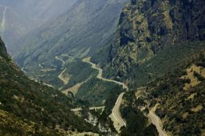 Carretera de camino a Machu Pichu