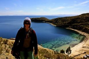 Panoramica Titicaca desde Isla del Sol