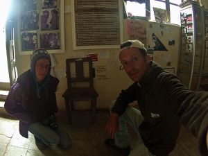 Silla donde ejecutaron al Che Guevara en La Higuera