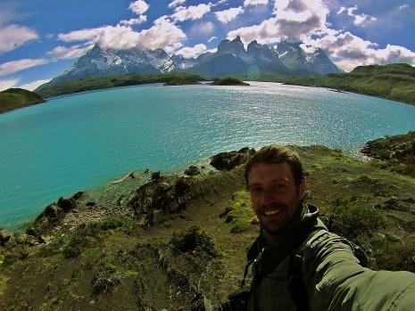 Victor en el Lago Pehoe