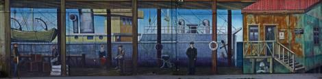 Mural antiguo Punta Arenas