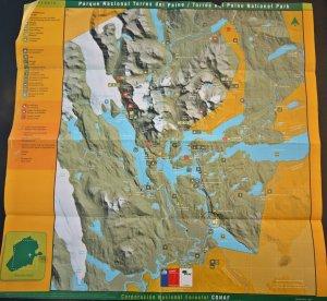 Mapa Torres del Paine