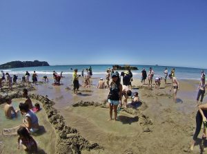 Hot water beach spa