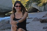 Ruth en Cathedral Cove