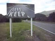 señales de keep left