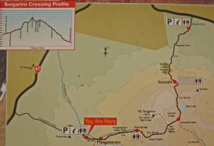 Tongariro Crossing map