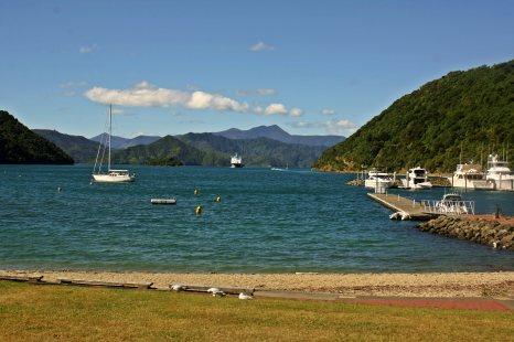 Vistas del puerto deportivo Picton