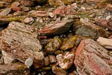 Piedras arrastradas por glaciar