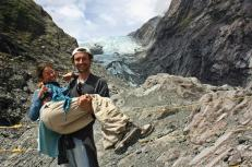 Tras la caminata al Franz Joseph Glaciar
