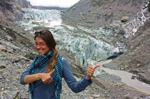 Ruth en el glaciar Fox