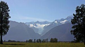 Glaciar desde lago Matheson