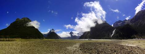 Panoramica Milford Sounds New Zealand
